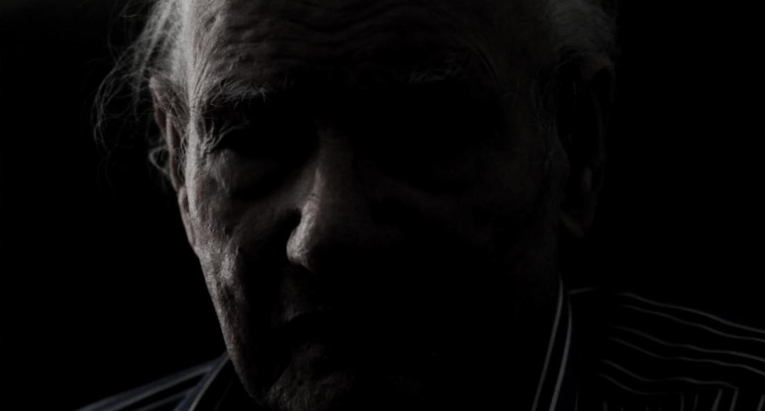 """video still Ger Lataster - 'Life's Work' 2009 - 2013(photograph Ger young © Dolf Kruger)  """"The most important thing is that I can paint... So long as I can work... I just go a bit further.""""  """"Het belangrijkste is dat ik kan schilderen... Zolang ik kan werken... Dan ga ik nog maar een eindje door."""""""