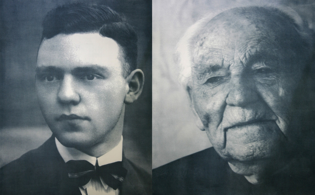 Mr Wijnant * 27 - 03 - 1902  † 26 - 06 - 2010On the left 24 years old, on the right 105 years oldFormer occupation: Municipal secretary