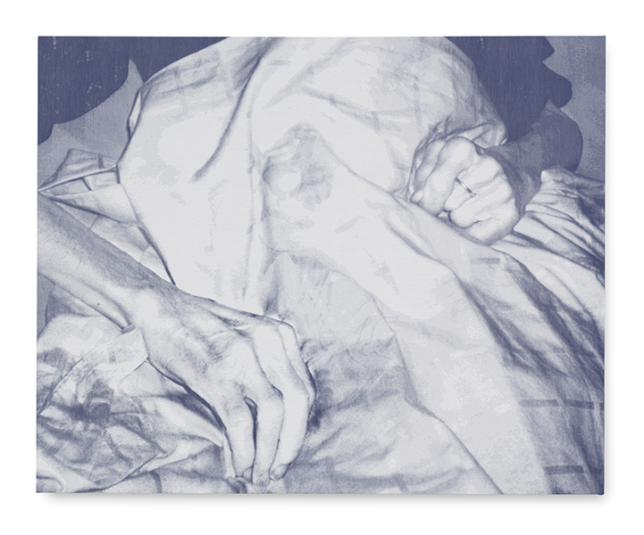 'Dead Hands Dad' tapestry - jacquard woven - single weaves - cotton -145 x 180 cm - 2010